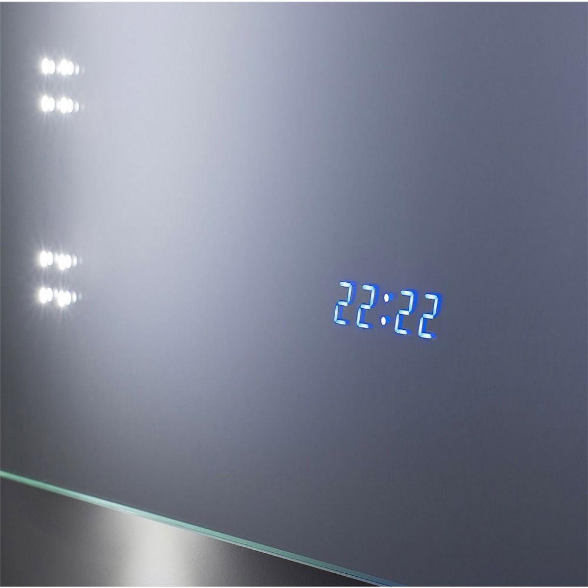 bauhaus rio led mirror with clock uk bathrooms. Black Bedroom Furniture Sets. Home Design Ideas