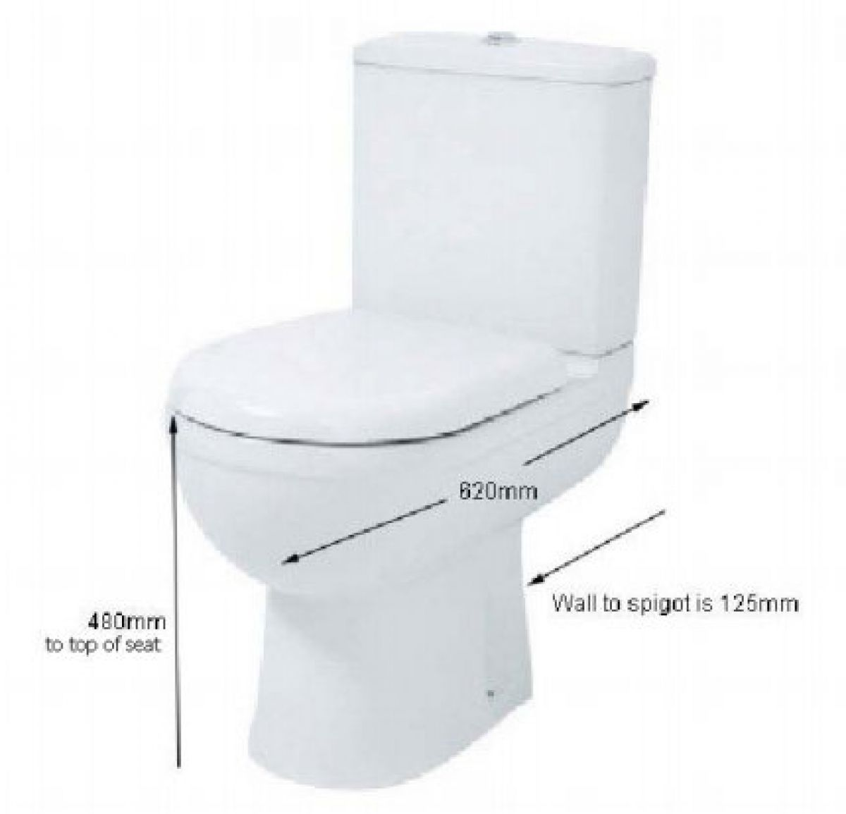 Phoenix Emma Comfort Height Close Coupled Toilet Suite