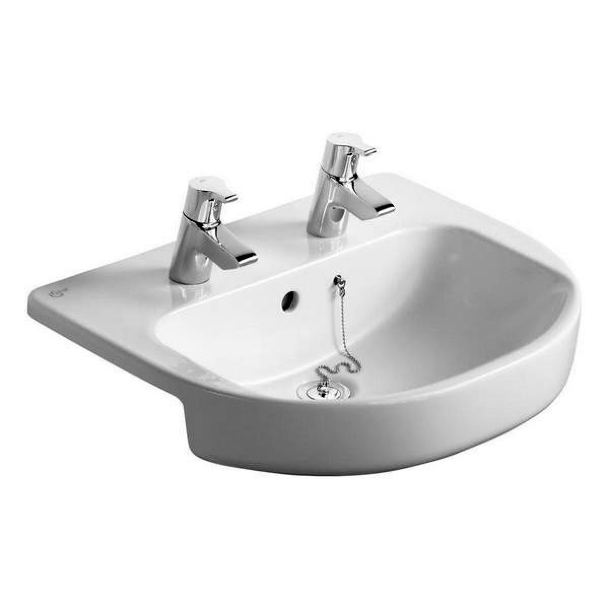 ideal standard playa 550mm semi countertop basin uk bathrooms. Black Bedroom Furniture Sets. Home Design Ideas