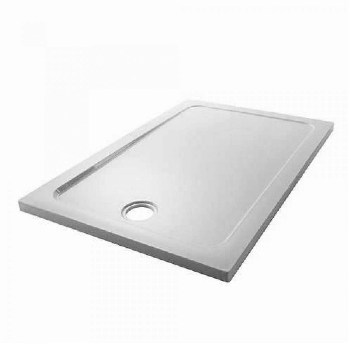 Mira Flight Low Rectangle Shower Tray with Waste : UK Bathrooms