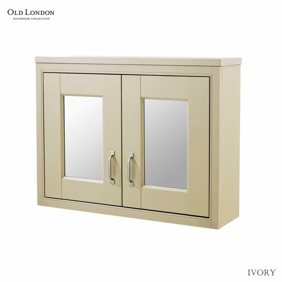 Old London 800mm 2 Door Mirror Cabinet Uk Bathrooms
