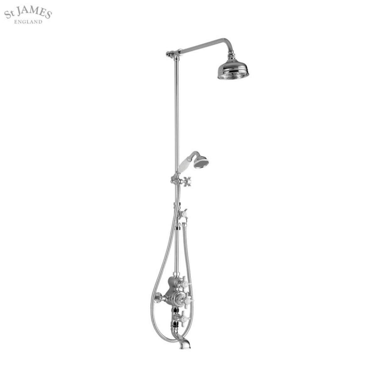 St James Exposed Thermostatic Shower Valve and Bath Filler : UK ...