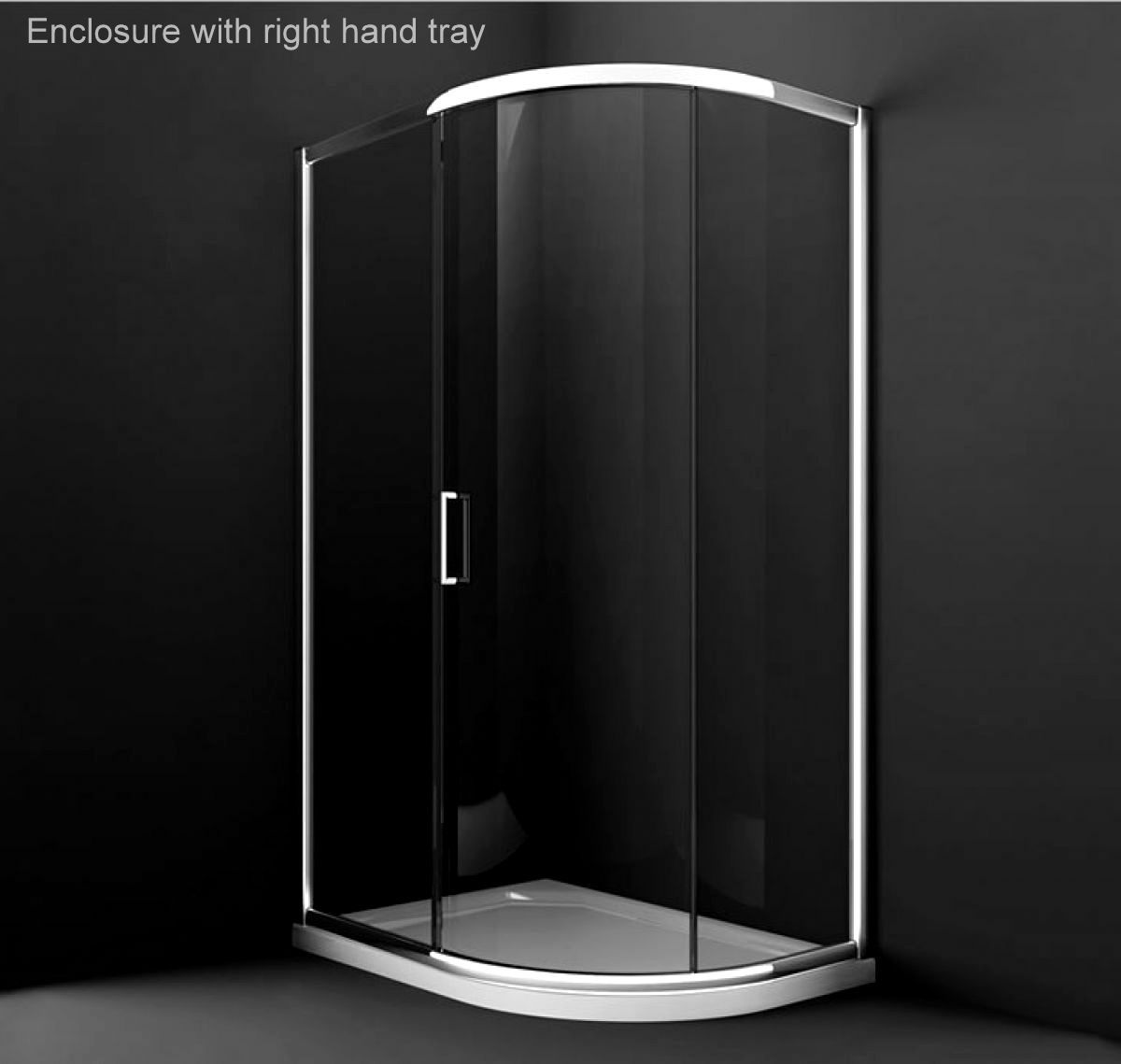 Merlyn 8 series sliding door amp inline panel - Merlyn Series 8 Single Door Offset Quadrant Shower Enclosure