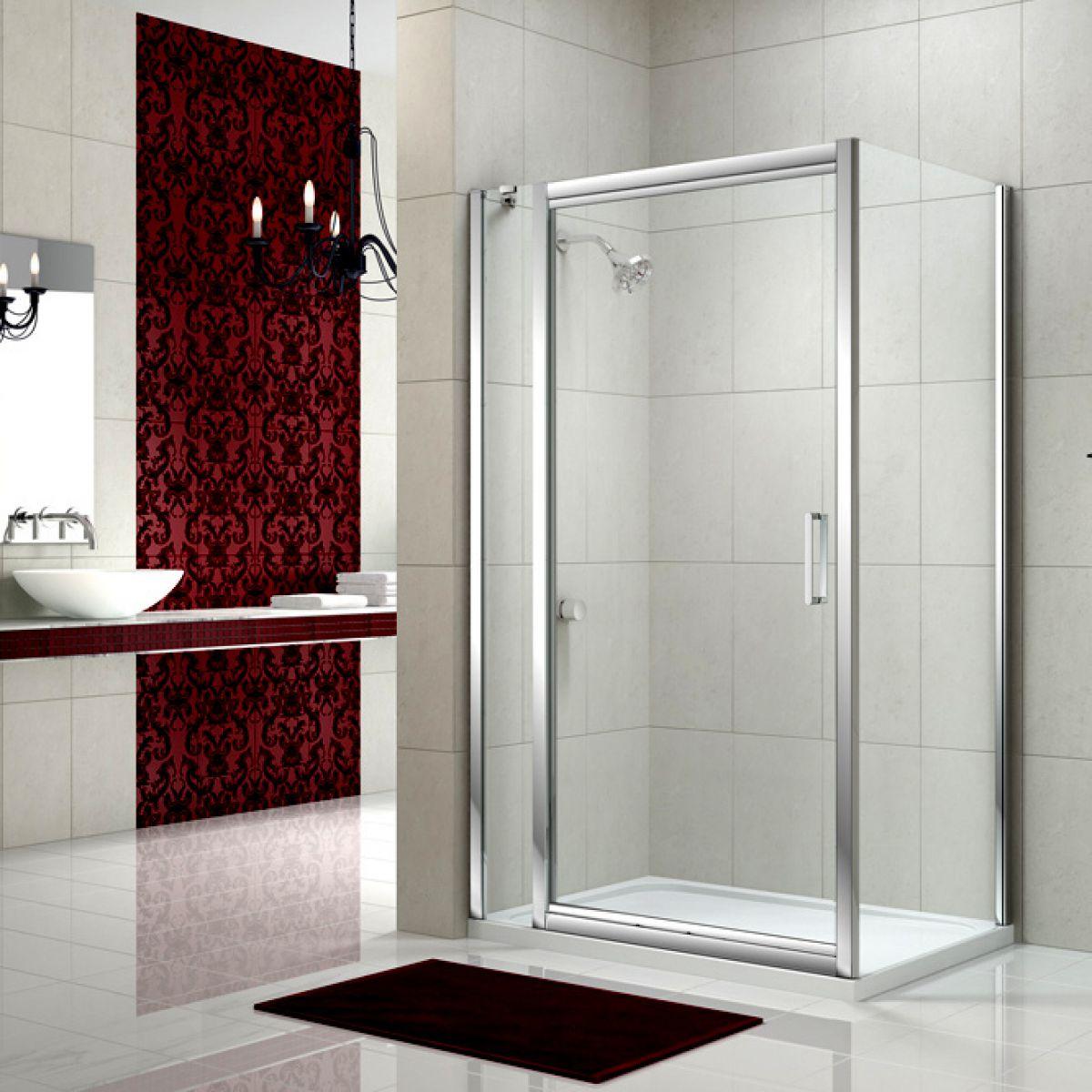 Merlyn Series 8 Infold Shower Door And Inline Panel Uk