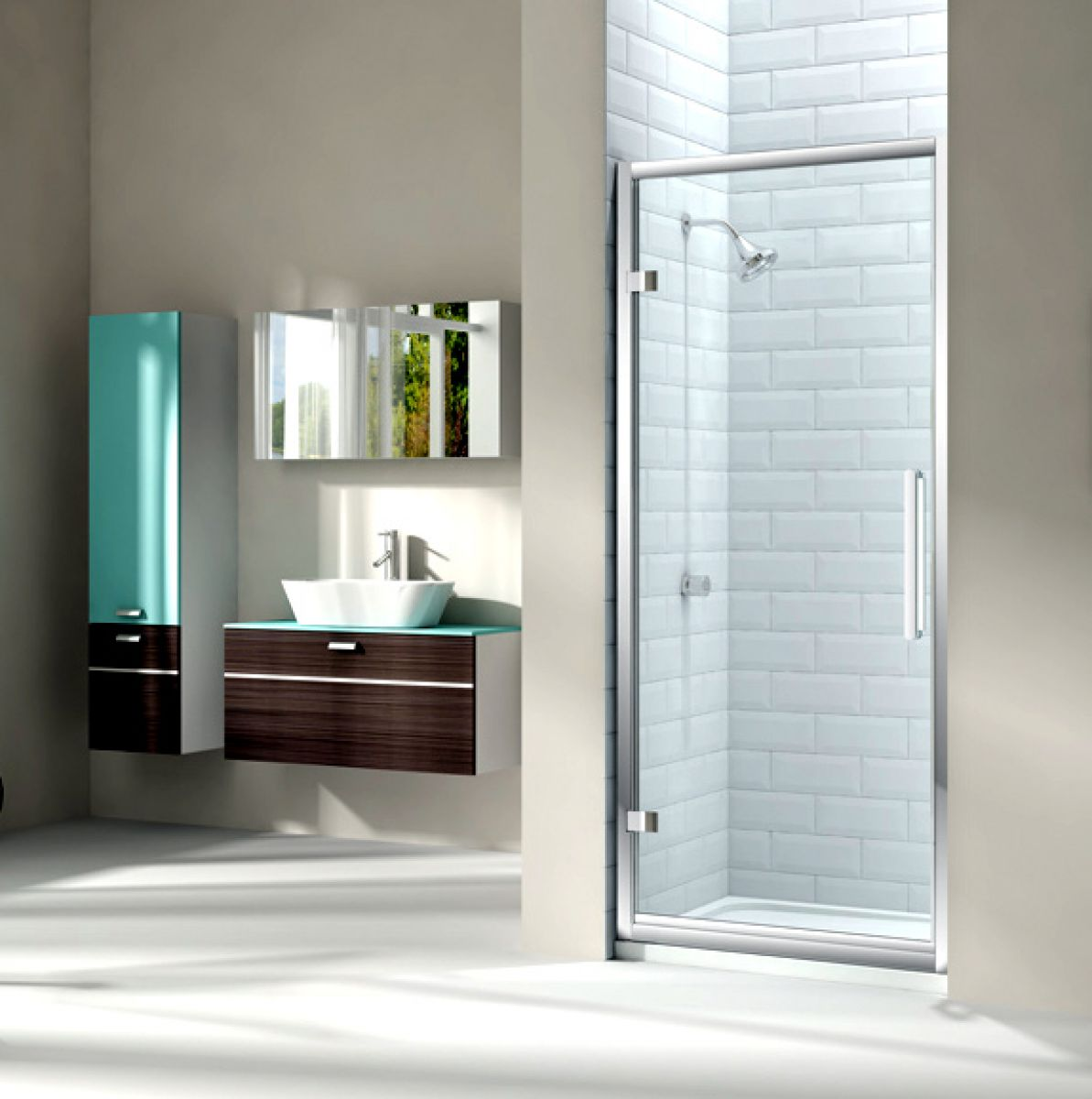Merlyn Series 8 Hinged Shower Door : UK Bathrooms