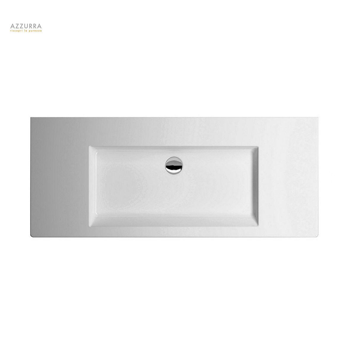 Azzurra Thin Square Wall Hung Basin : UK Bathrooms