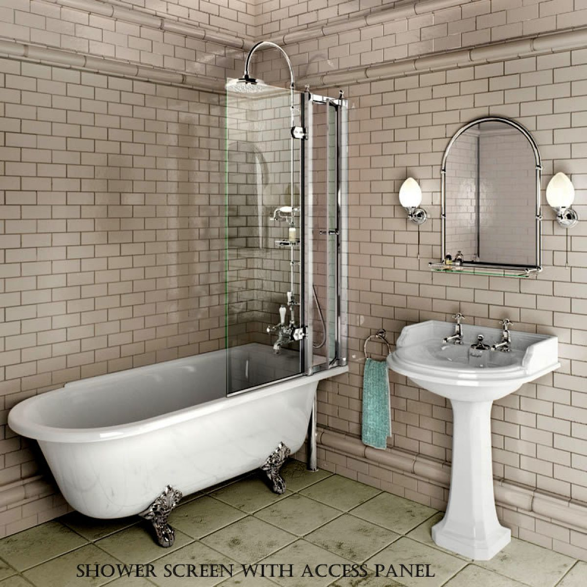 Bathroom Design Shower Over Bath : Burlington hampton traditional shower bath uk bathrooms