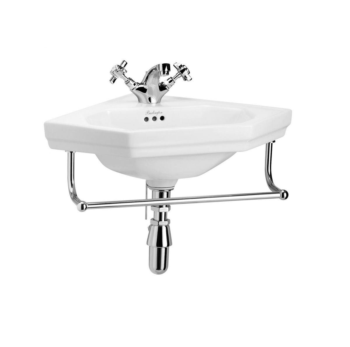Burlington Victorian Corner Cloakroom Basin Uk Bathrooms