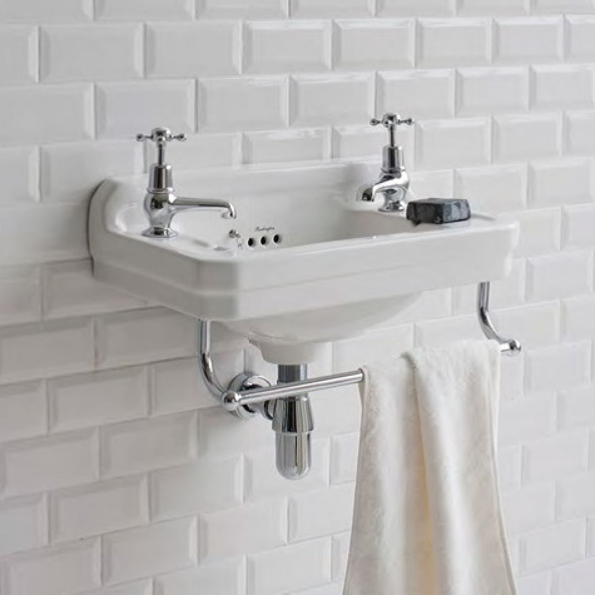 Burlington Corner Sink : Burlington Edwardian Cloakroom Basin : UK Bathrooms