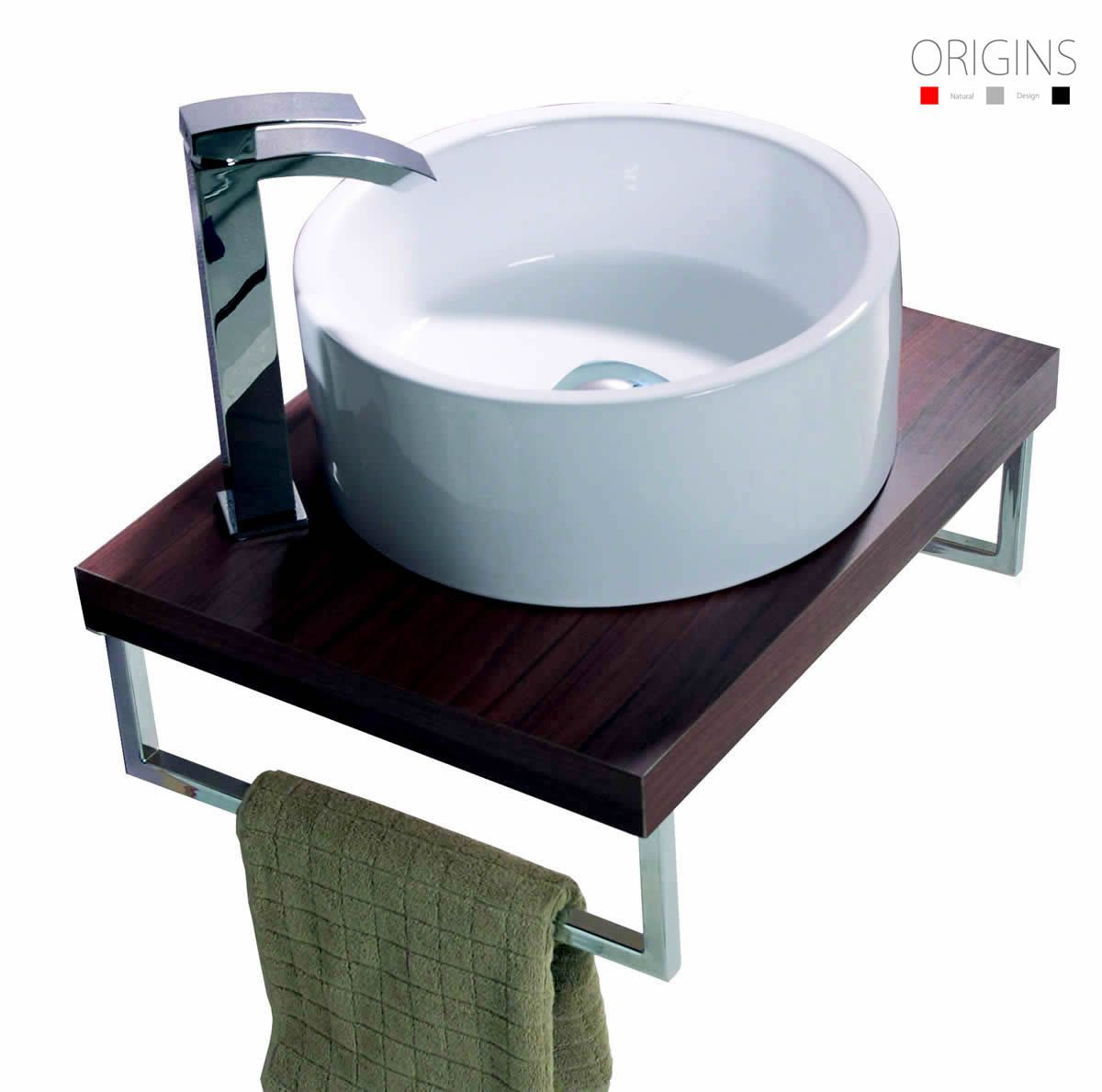 Origins 600mm wall mounted countertop ukbathrooms for Wall mounted bathroom countertop