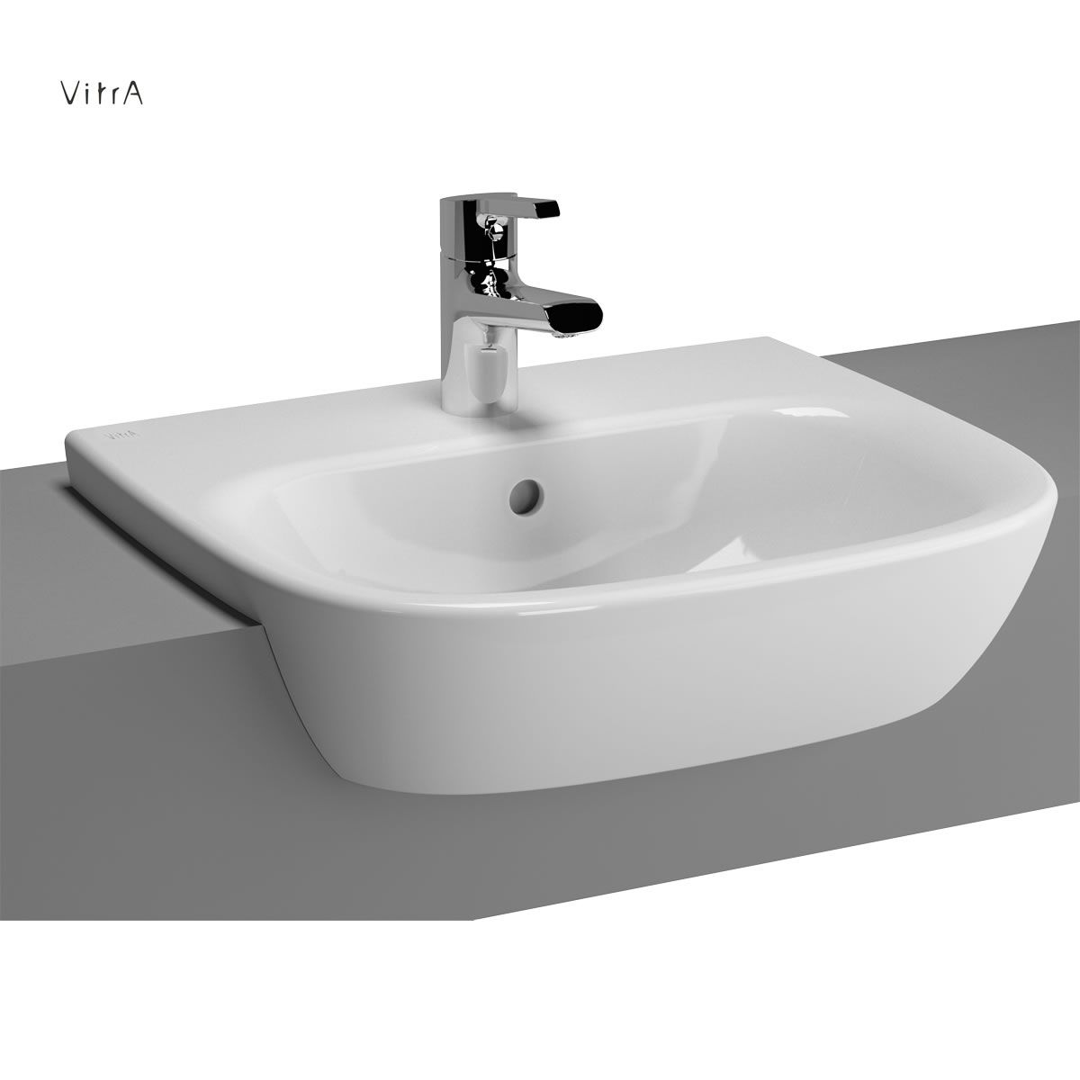 vitra zentrum semi recessed basin 50cm uk bathrooms. Black Bedroom Furniture Sets. Home Design Ideas