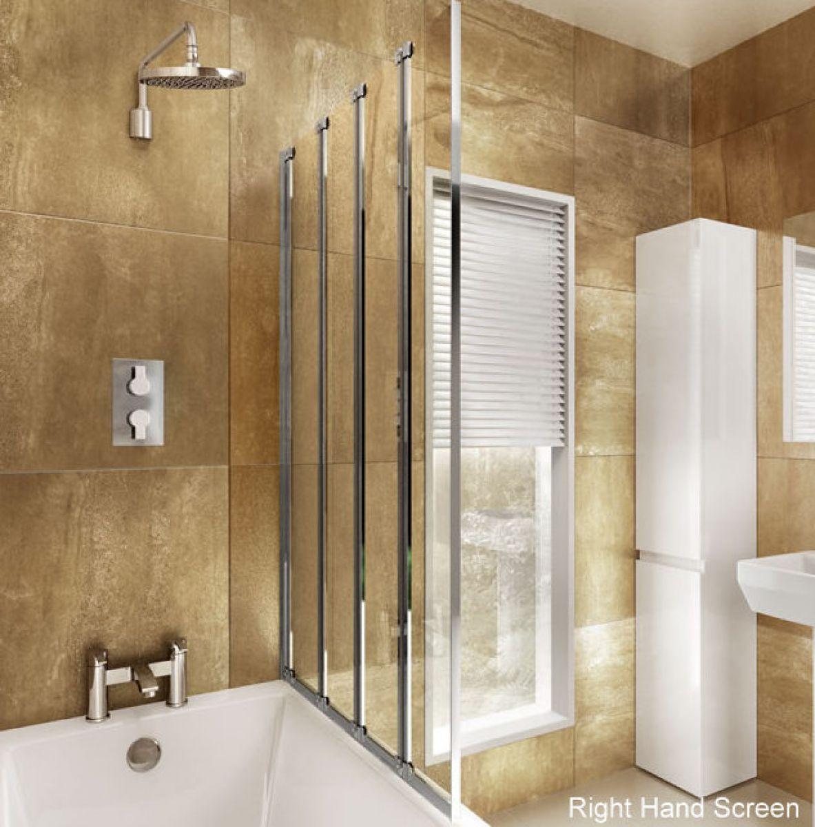 cleargreen hinged bath screen four fold uk bathrooms cleargreen hinged bath screen four fold
