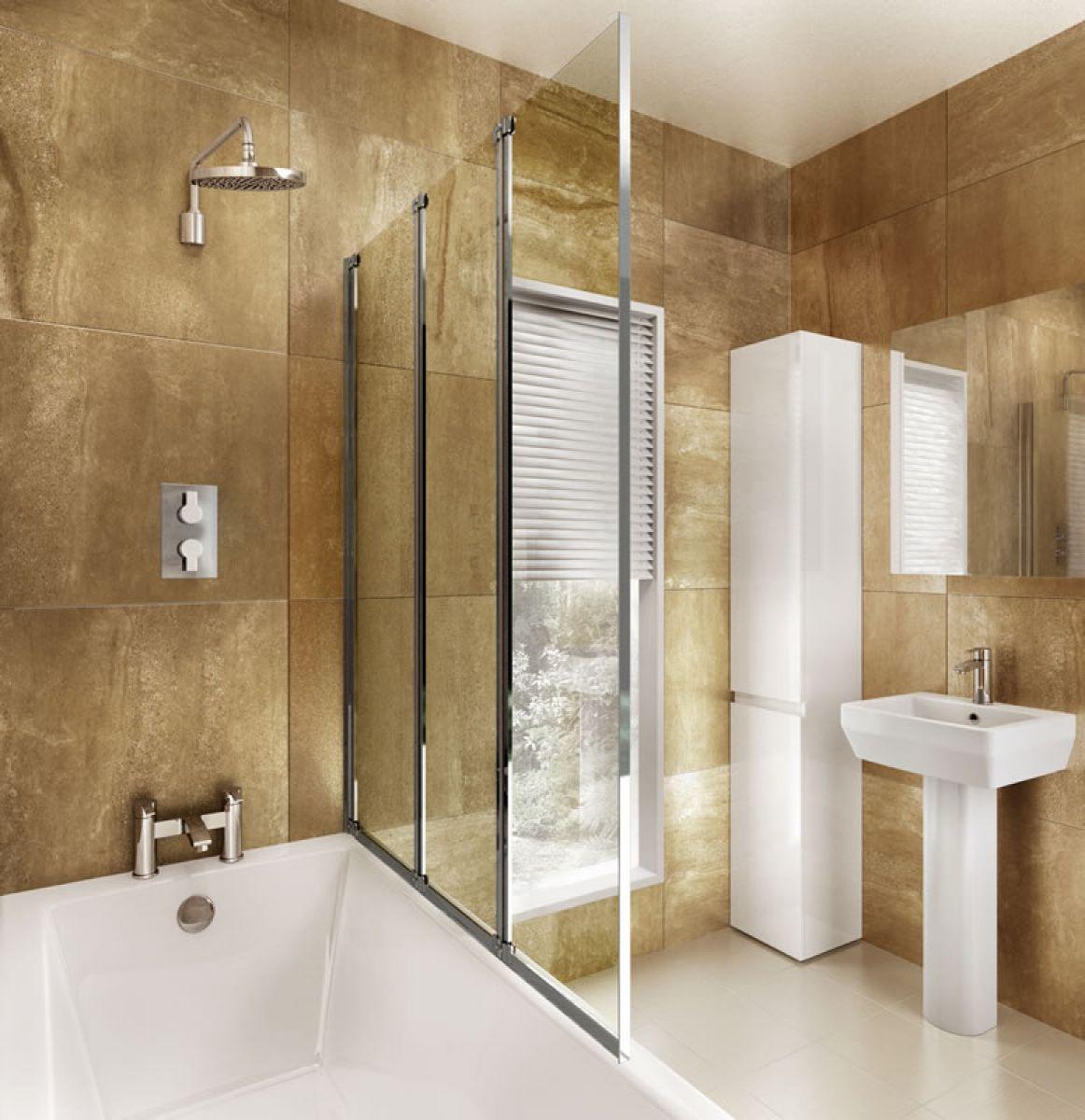 ClearGreen 3 Panel Folding Bath Screen : UK Bathrooms