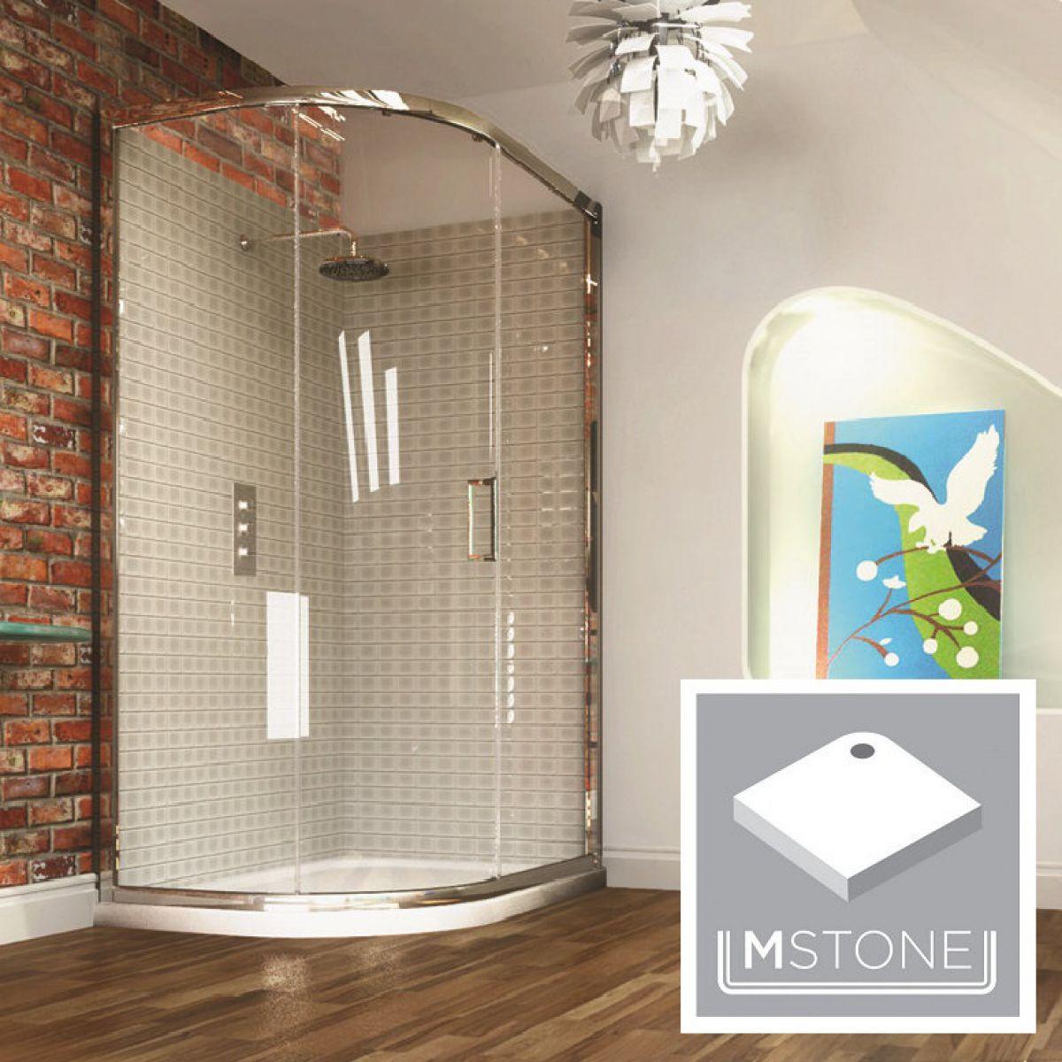 Merlyn Series 8 Single Door Offset Quadrant Enclosure & Tray