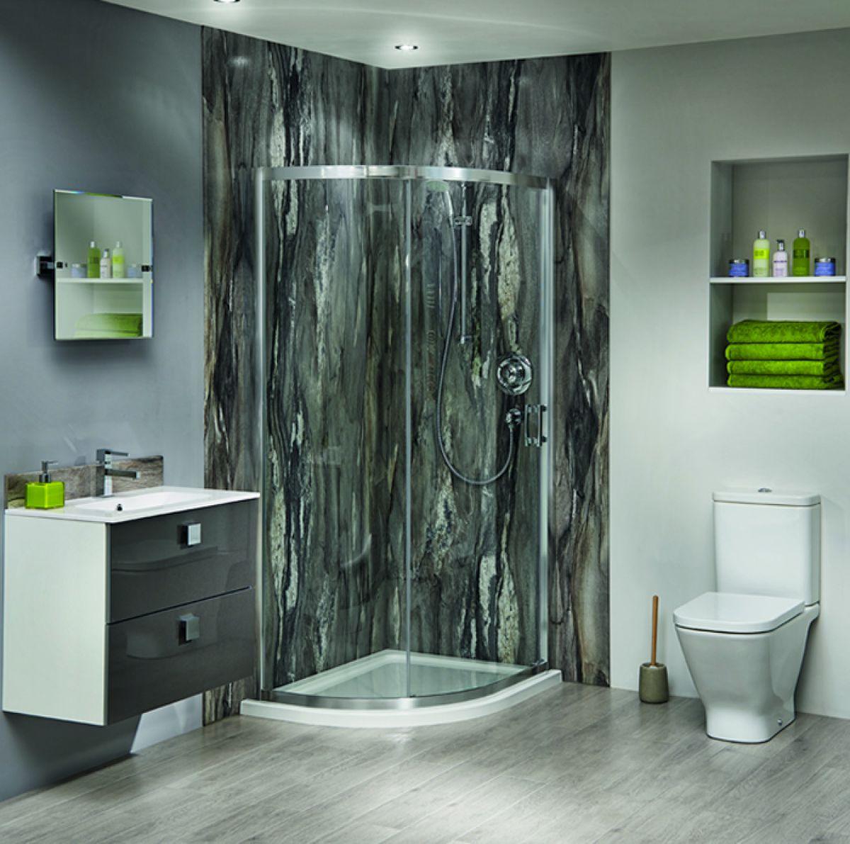 bushboard nuance corner shower board pack 1800mm  uk