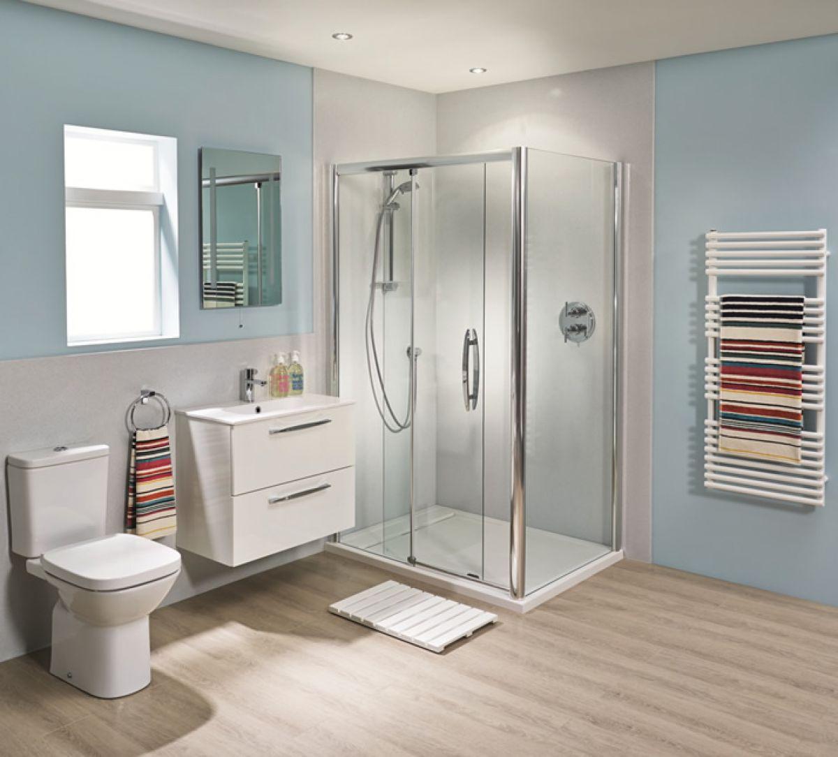Bushboard Nuance Corner Shower Board Pack 2400mm. Bushboard Nuance Corner Shower Board Pack 2400mm   UK Bathrooms