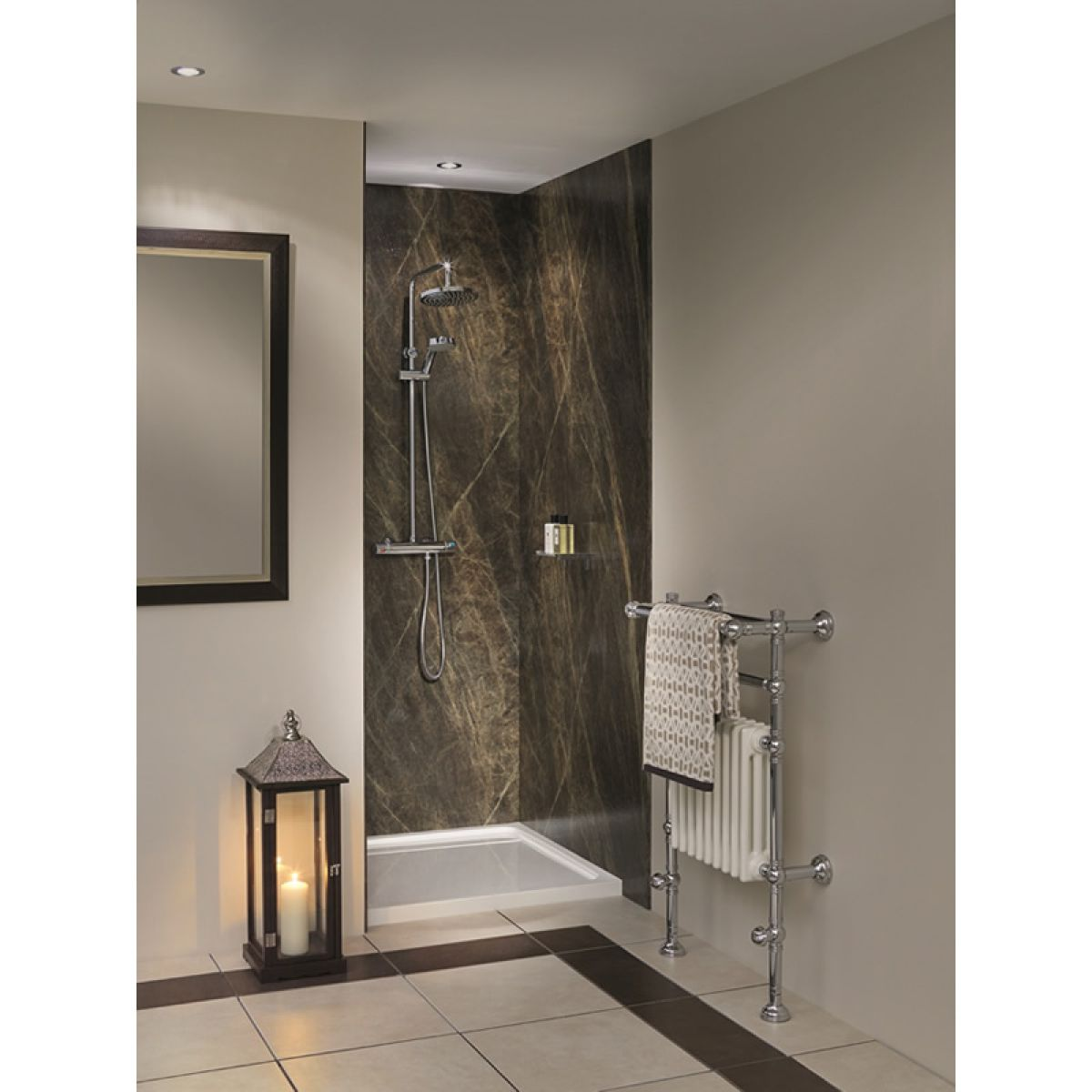 Bushboard Nuance Recess Shower Board Pack 1200mm Uk