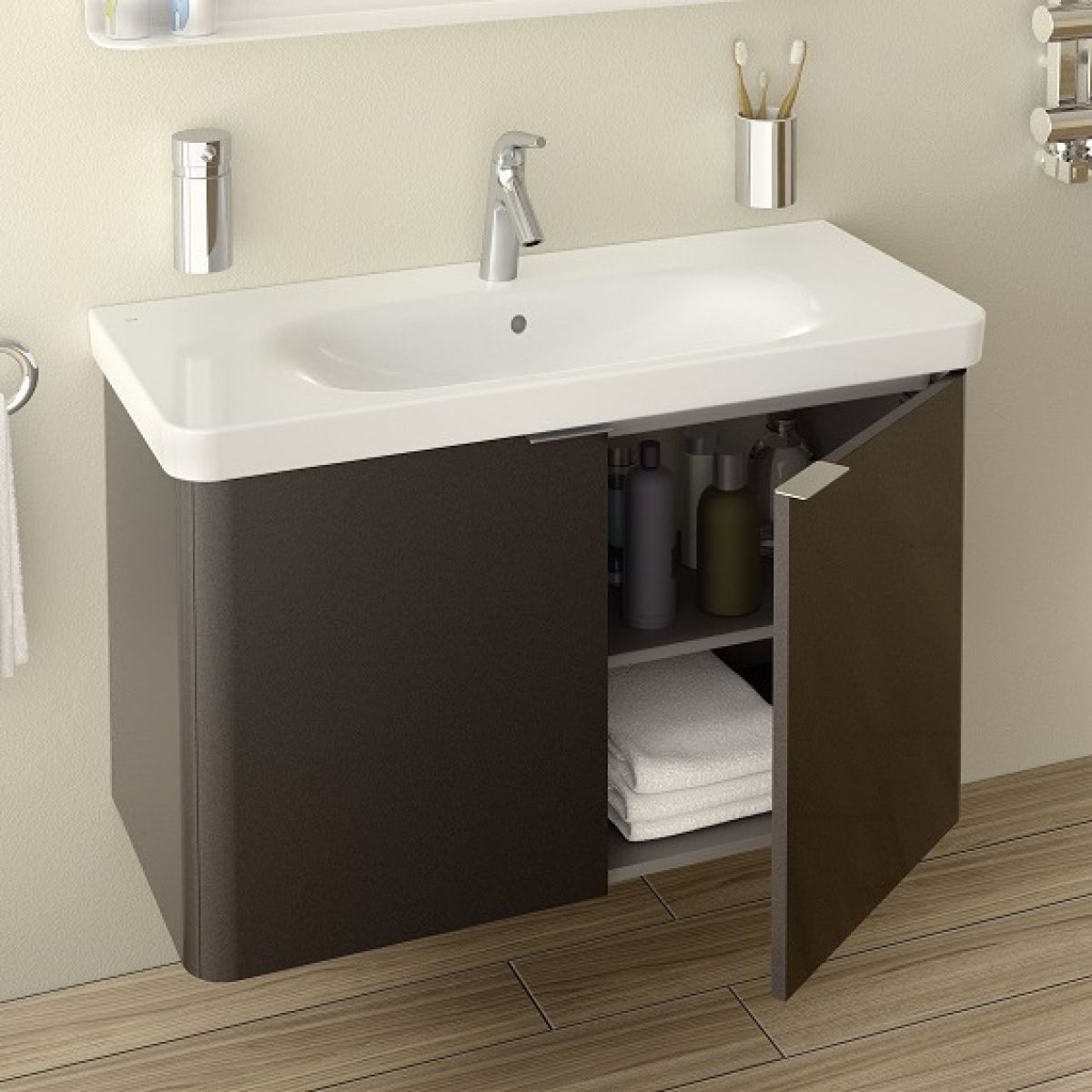 Vitra Nest Wall Hung Unit And Basin 3 Sizes 4 Colours