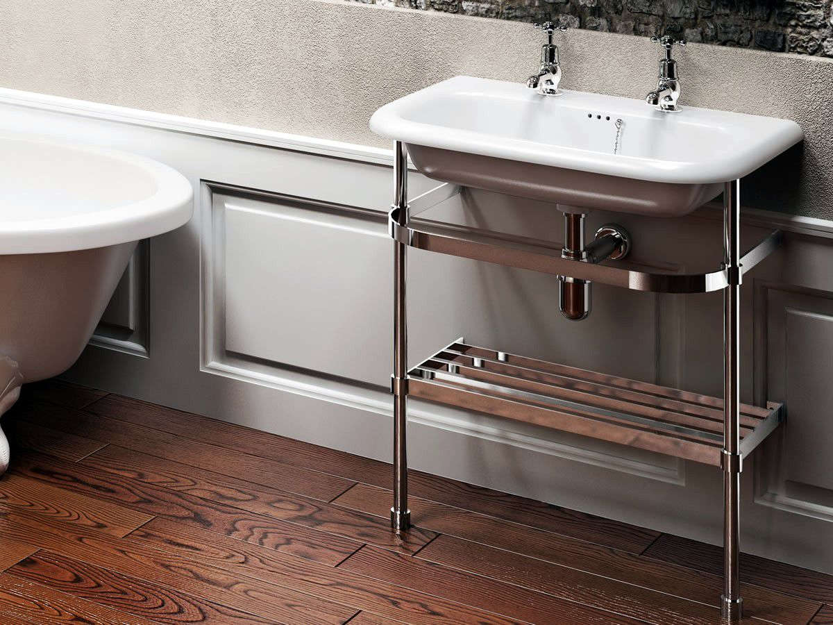 Clearwater Traditional Roll Top Stone Basin : UK Bathrooms for Bathroom Basin Stands  186ref