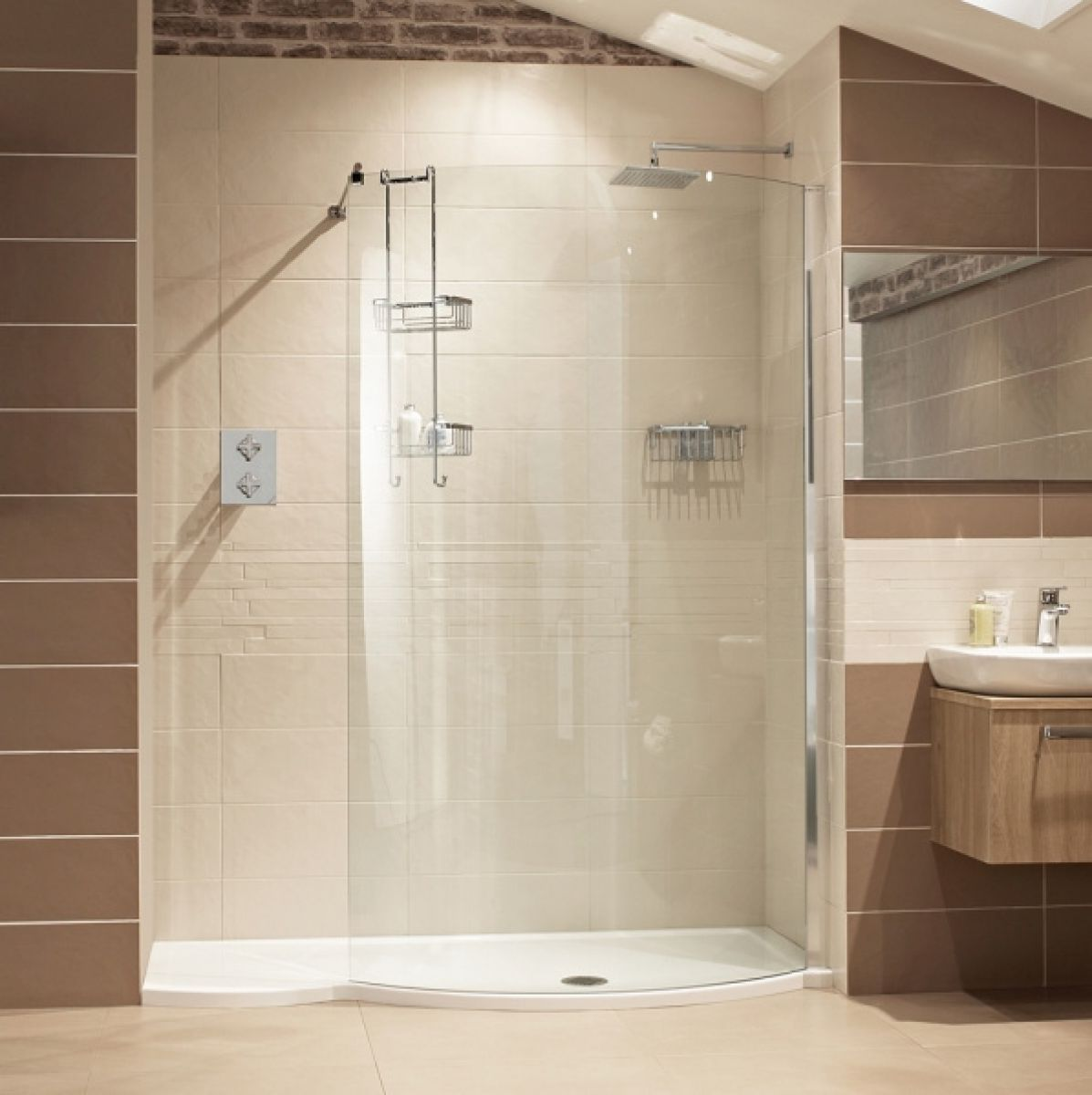 Roman lumin8 colossus 1700mm shower enclosure uk bathrooms for Walk in shower plans and specs