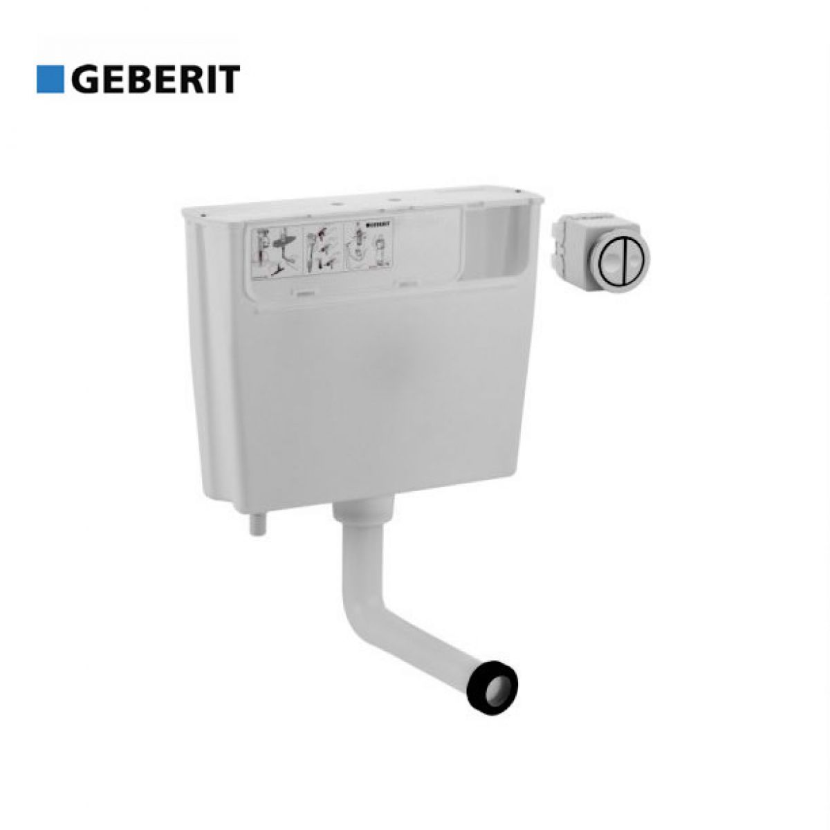 Geberit concealed furniture cistern with button flush uk for Geberit flush