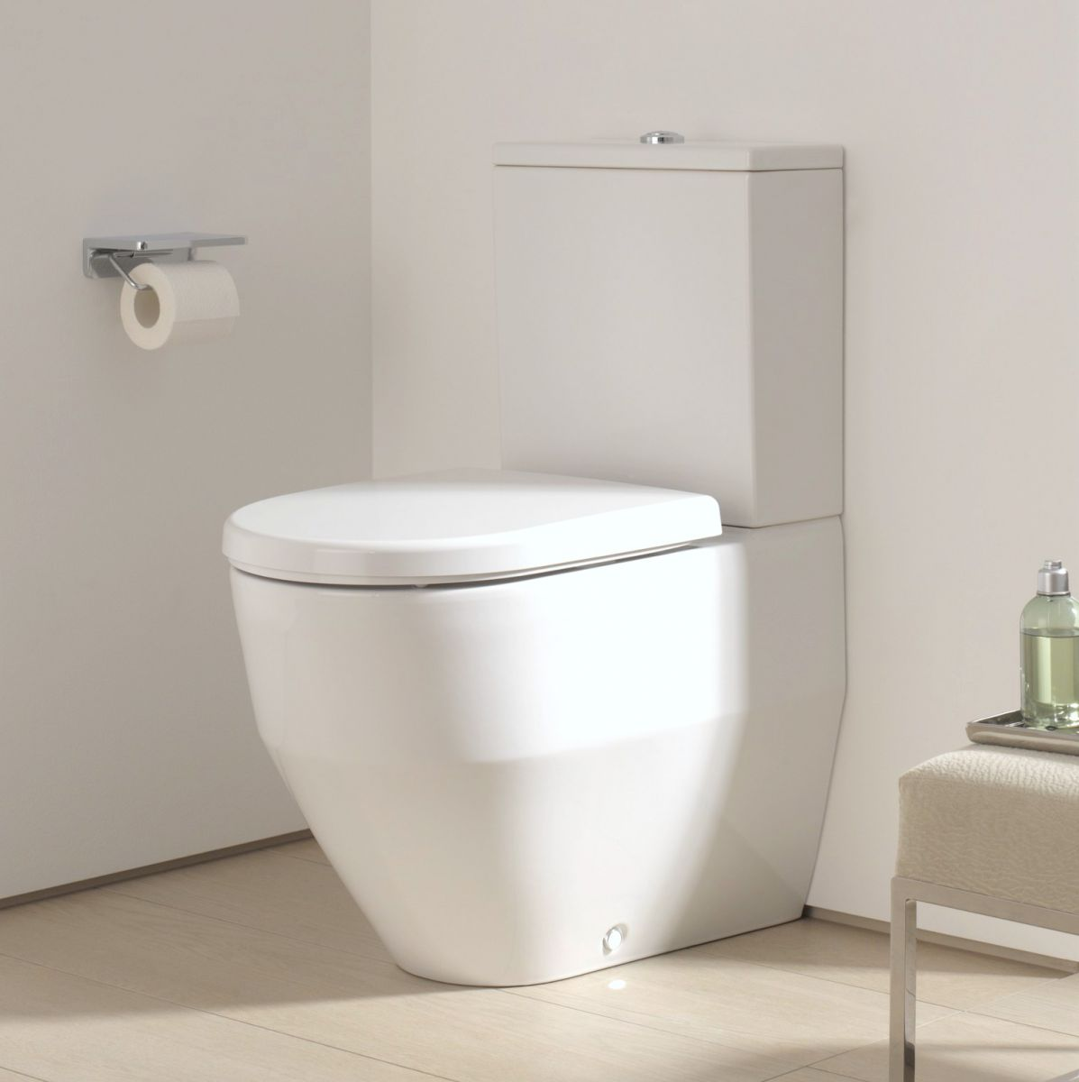 laufen pro close coupled fully back to wall toilet bottom inlet uk bathrooms. Black Bedroom Furniture Sets. Home Design Ideas
