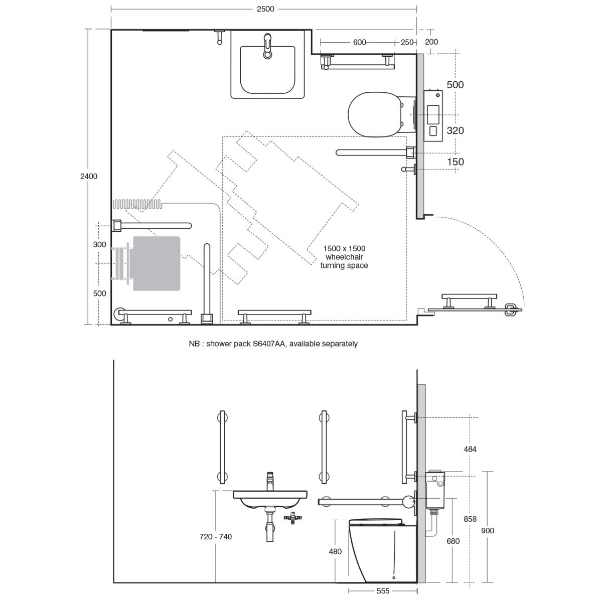 Ideal Standard Concept Freedom Ensuite Bathroom Package