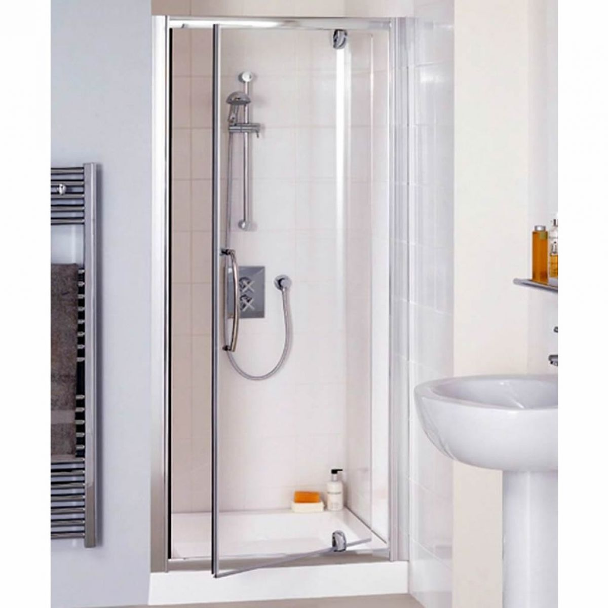 Lakes Classic Semi Frameless Pivot Shower Door Uk Bathrooms