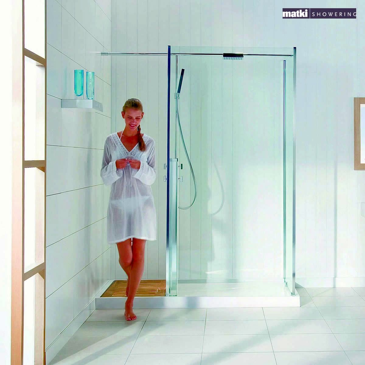 Matki square walk in corner shower enclosure with shower Walk in shower kits