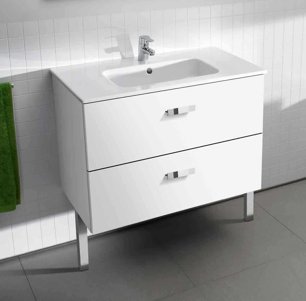Roca Victoria Basic Unik Vanity Unit and Basin : UK Bathrooms