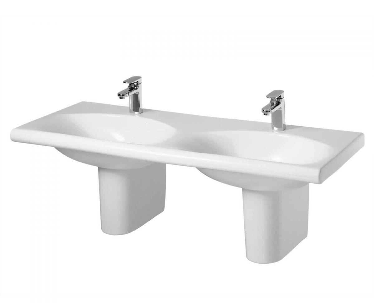 Ideal standard daylight 1300mm double basin uk bathrooms for Double bathroom sink basin