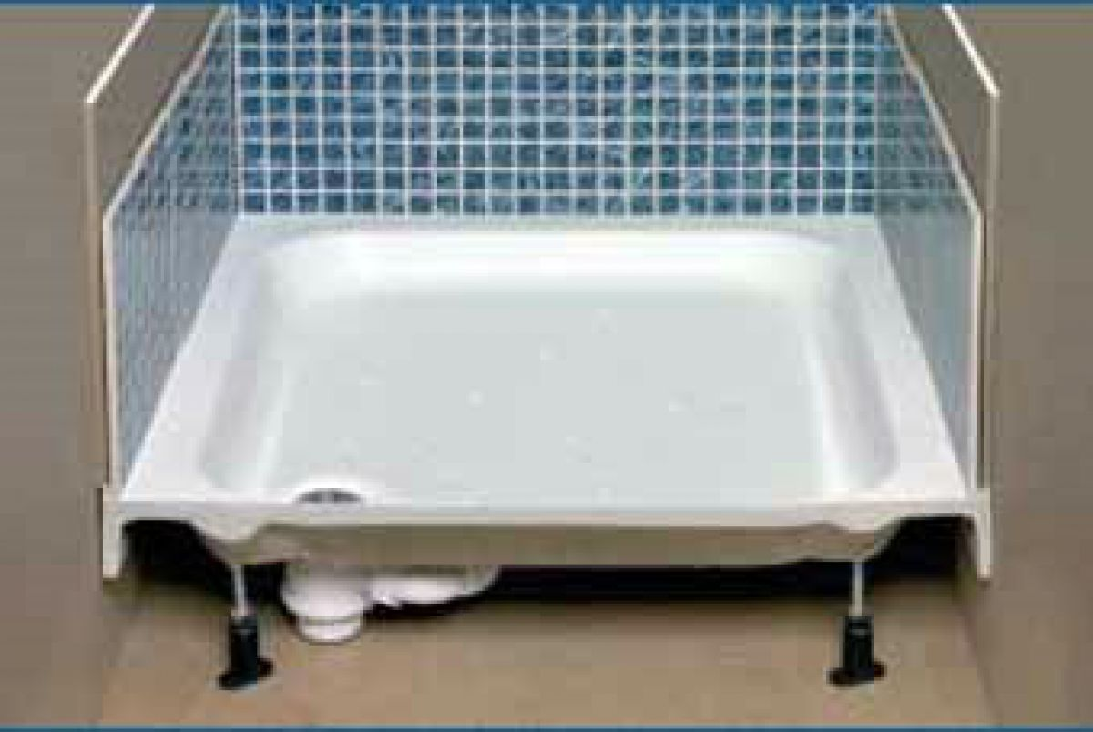 Just Trays Merlin Upstand Rectangle Shower Tray : UK Bathrooms