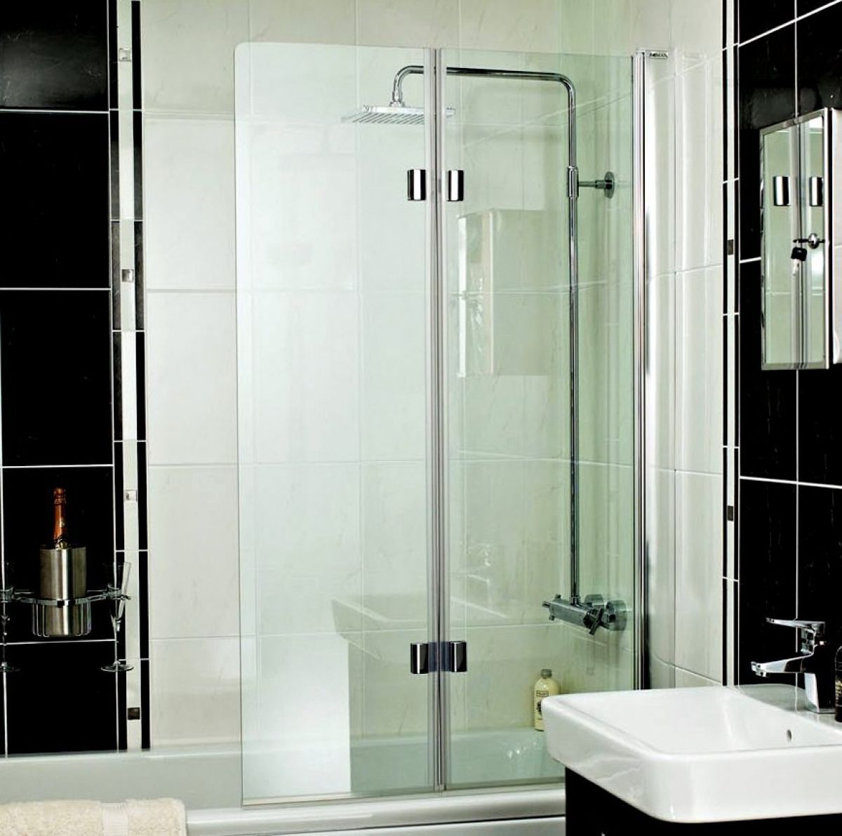 Roman Embrace Folding Bath Screen Uk Bathrooms