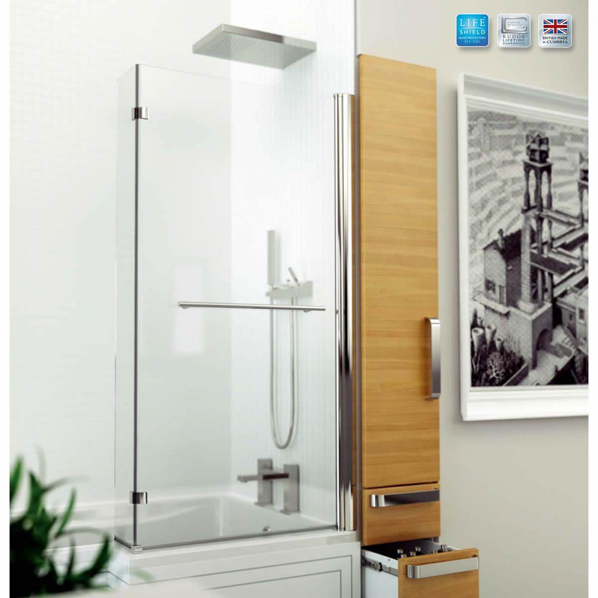 Kudos Inspire L-Shaped Showerbath Screen : UK Bathrooms