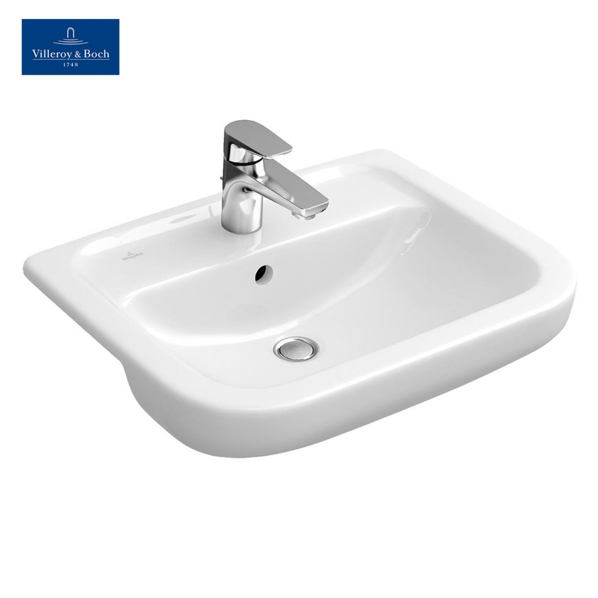 villeroy boch omnia architectura semi recessed washbasin uk bathrooms. Black Bedroom Furniture Sets. Home Design Ideas