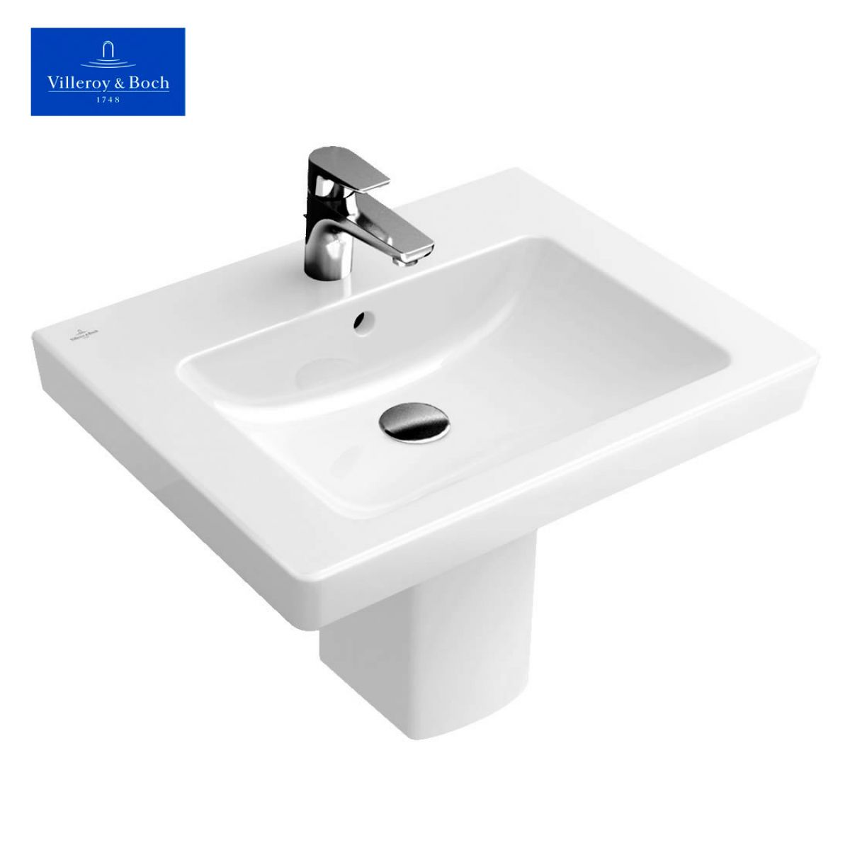 villeroy boch subway 2 0 washbasin uk bathrooms. Black Bedroom Furniture Sets. Home Design Ideas