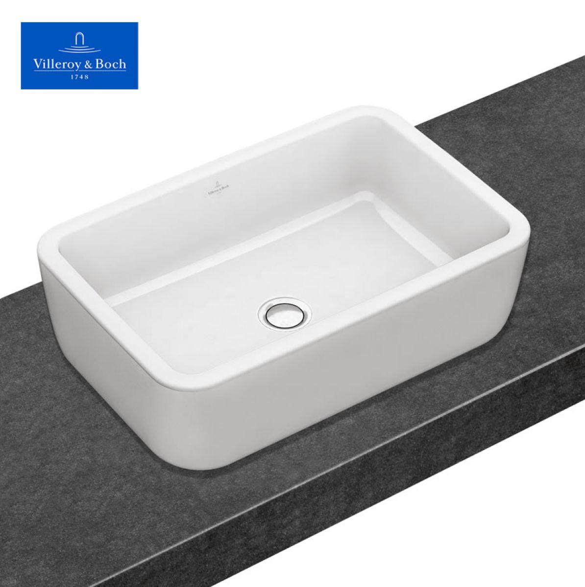 v b architectura rectangle surface mounted washbasin uk bathrooms. Black Bedroom Furniture Sets. Home Design Ideas
