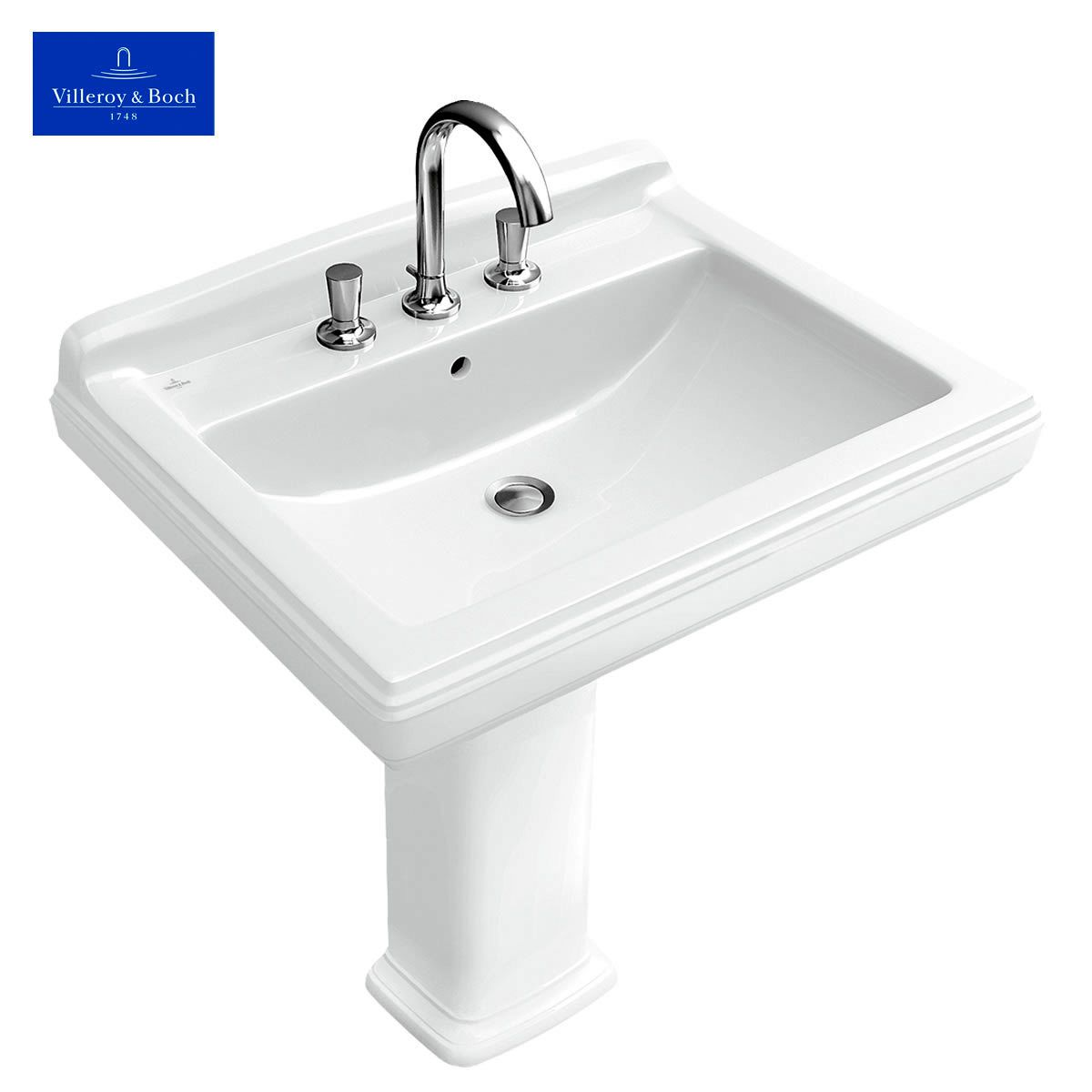 Villeroy boch hommage family washbasin uk bathrooms for Lavabo sur pied salle de bain