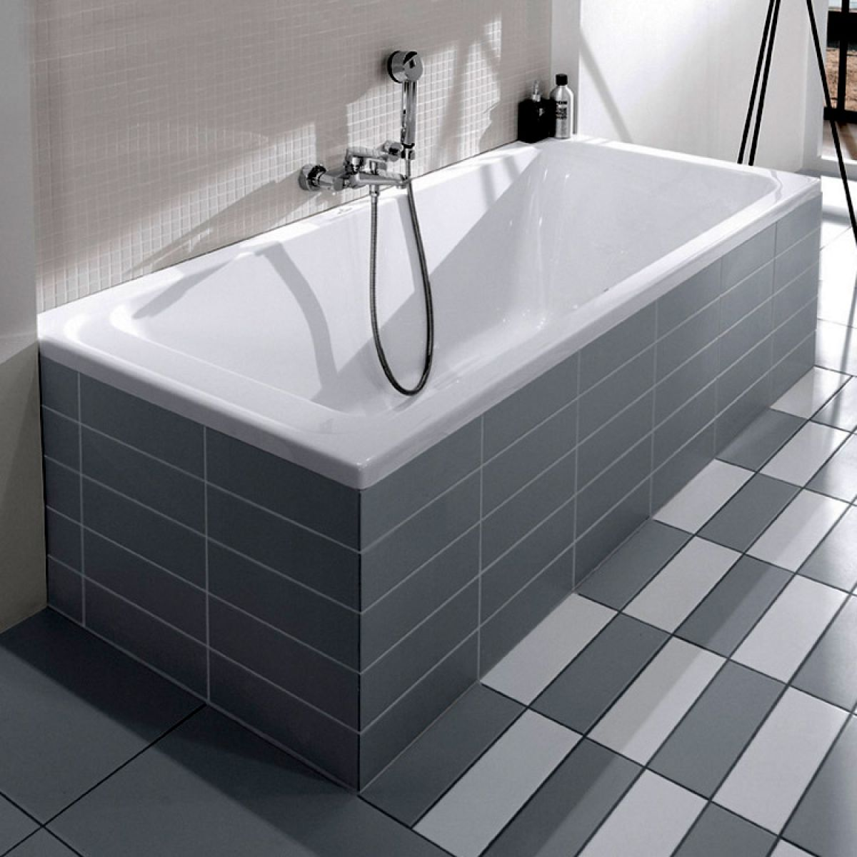 bathroom designs pictures with tiles villeroy amp boch architectura rectangular bath uk 22061
