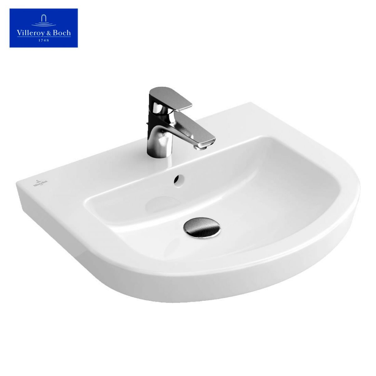 villeroy boch subway 2 0 curved washbasin for vanity units uk bathrooms. Black Bedroom Furniture Sets. Home Design Ideas