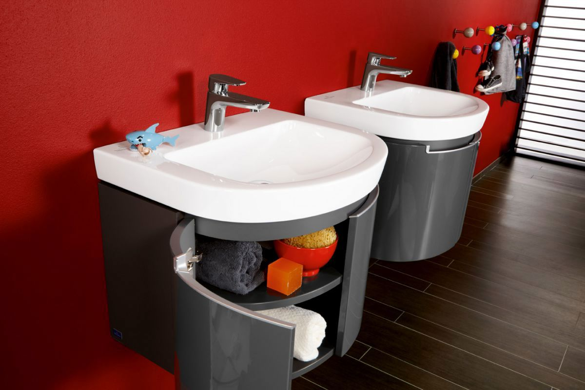 v b subway 2 0 curved vanity unit uk bathrooms. Black Bedroom Furniture Sets. Home Design Ideas