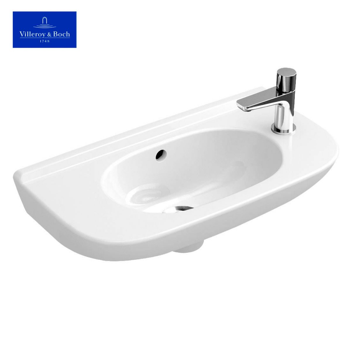 villeroy boch o novo compact narrow handwash basin uk bathrooms. Black Bedroom Furniture Sets. Home Design Ideas