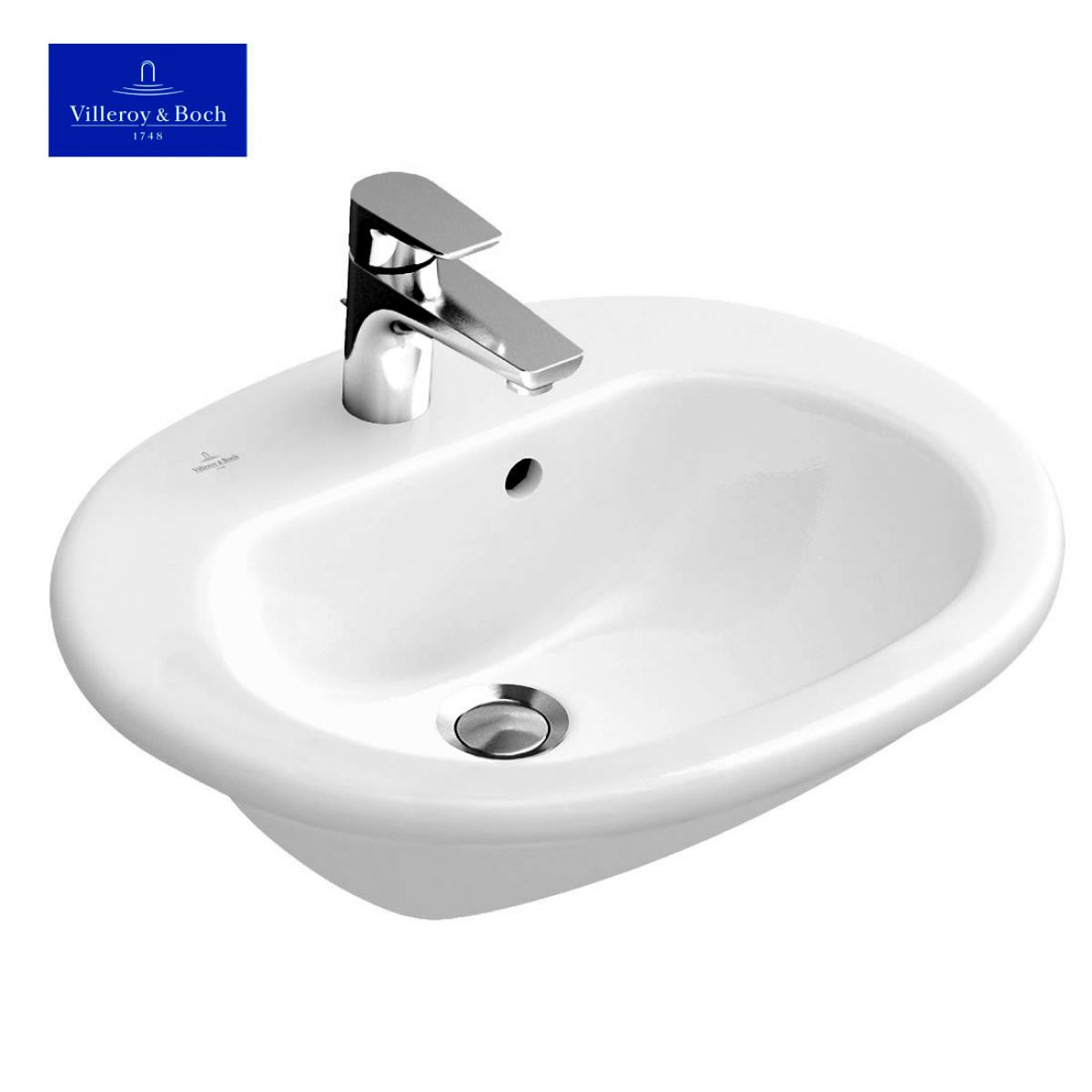 villeroy boch o novo semi recessed washbasin uk bathrooms. Black Bedroom Furniture Sets. Home Design Ideas