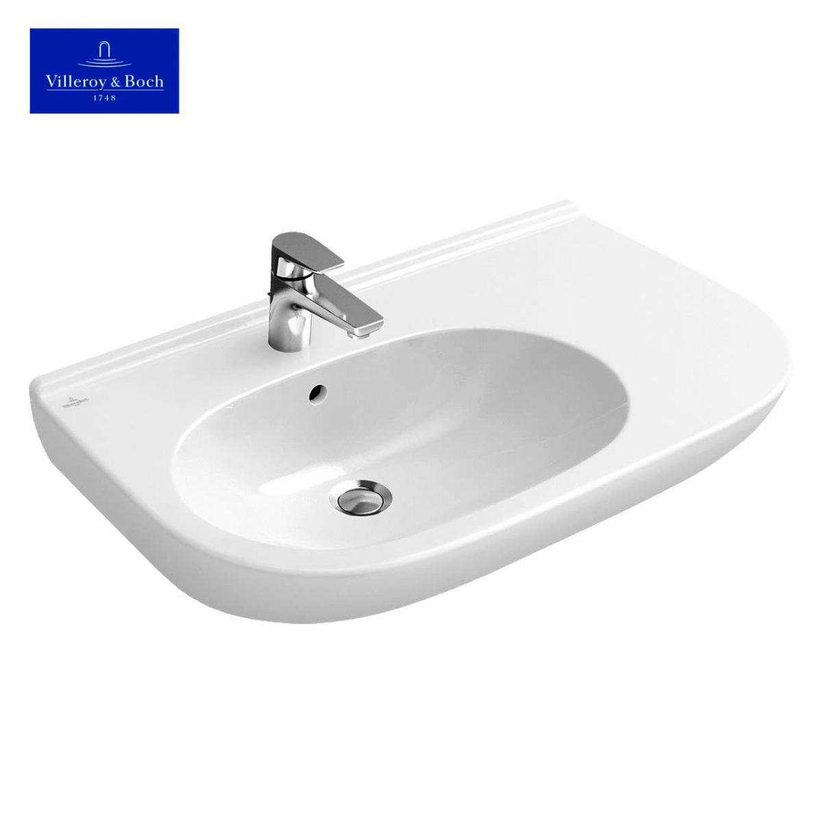 villeroy boch o novo offset washbasin uk bathrooms. Black Bedroom Furniture Sets. Home Design Ideas