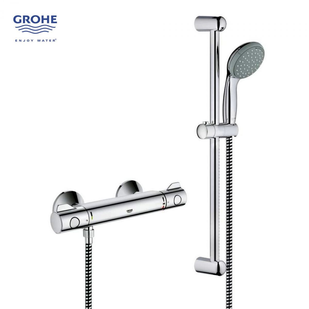 Grohtherm 800 Thermostatic shower mixer Kit : UK Bathrooms