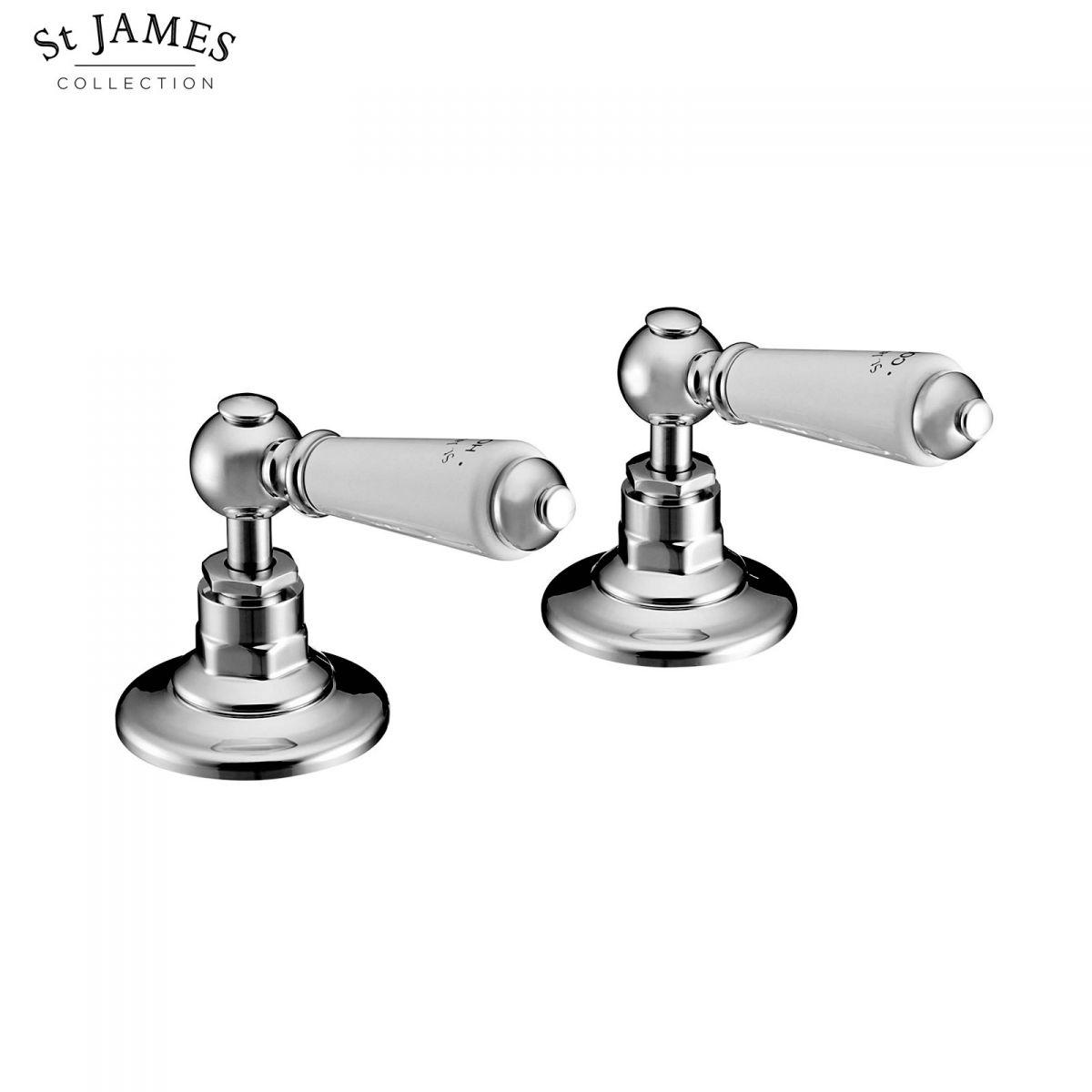 St James Deck Mounted Bath Flow Valves Uk Bathrooms