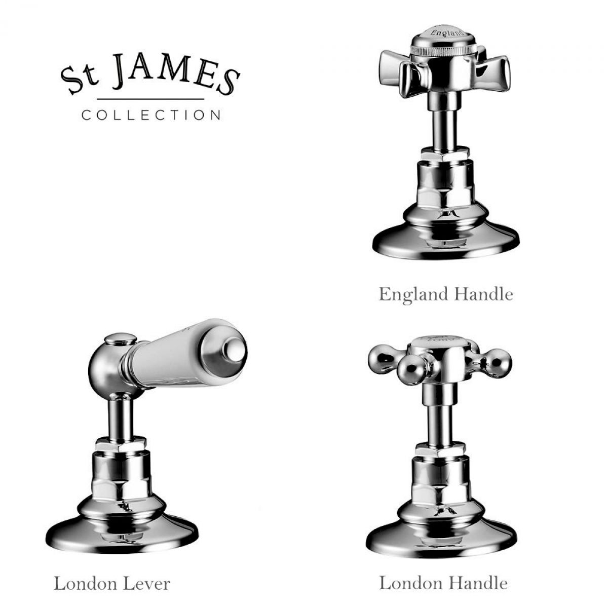 St James Traditional Deck Mounted Bath Shower Mixer Tap : UK Bathrooms