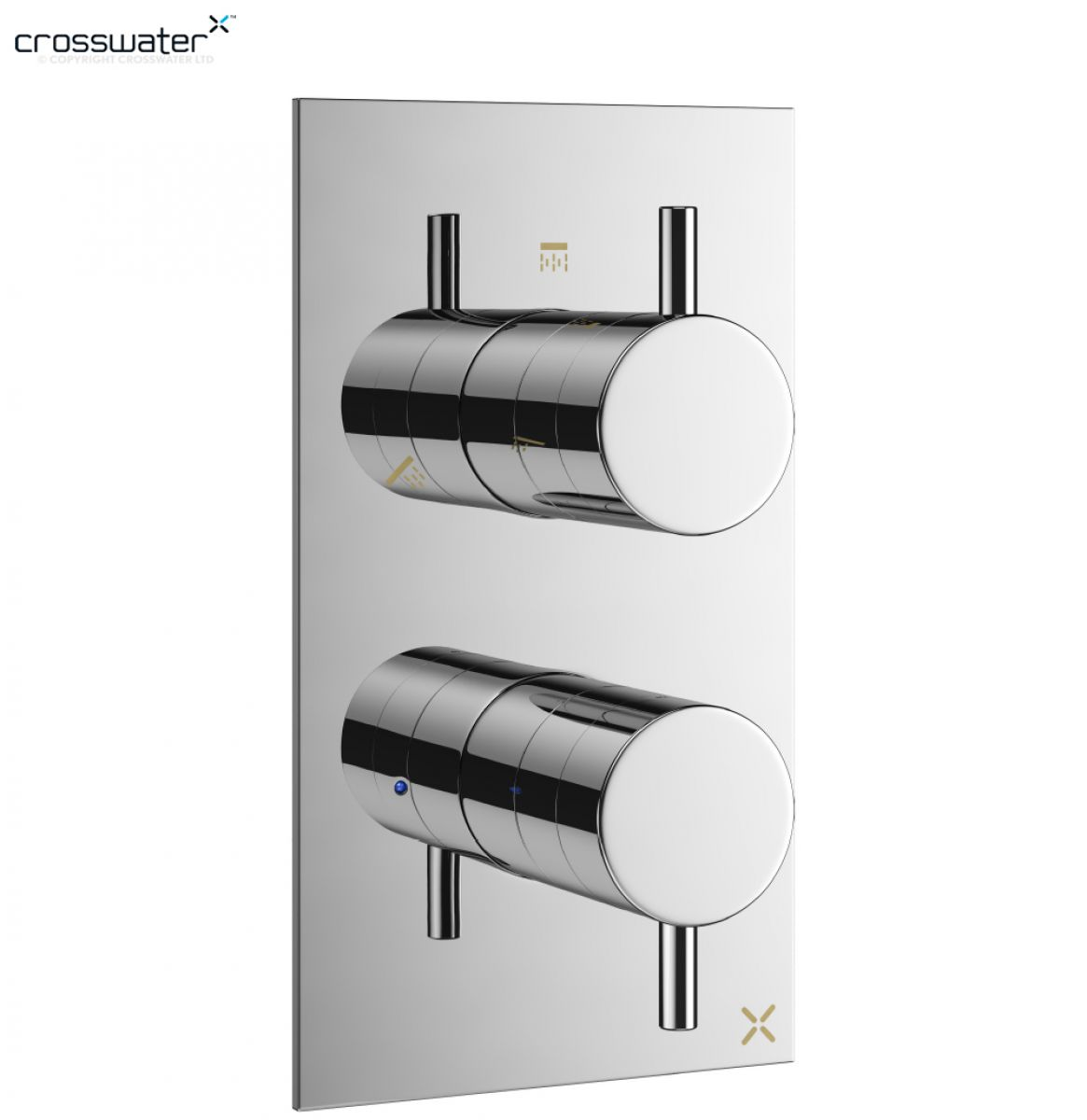 Crosswater mike pro thermostatic shower valve uk bathrooms - Shower controls ...