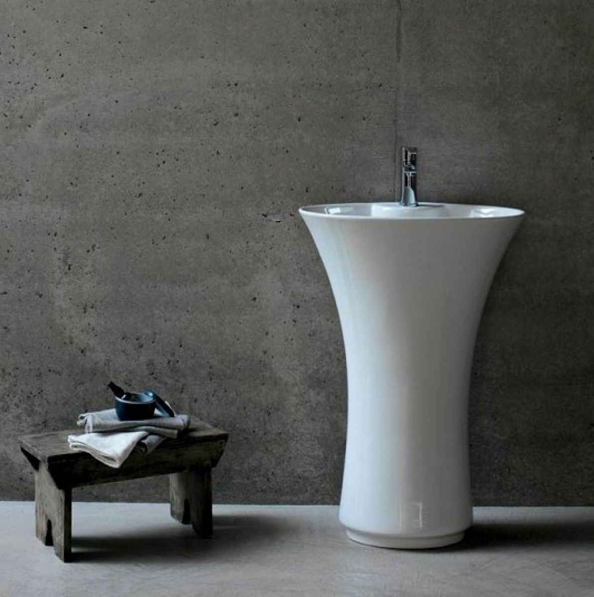 free standing sink. Britton Curve Freestanding One-piece Basin Free Standing Sink