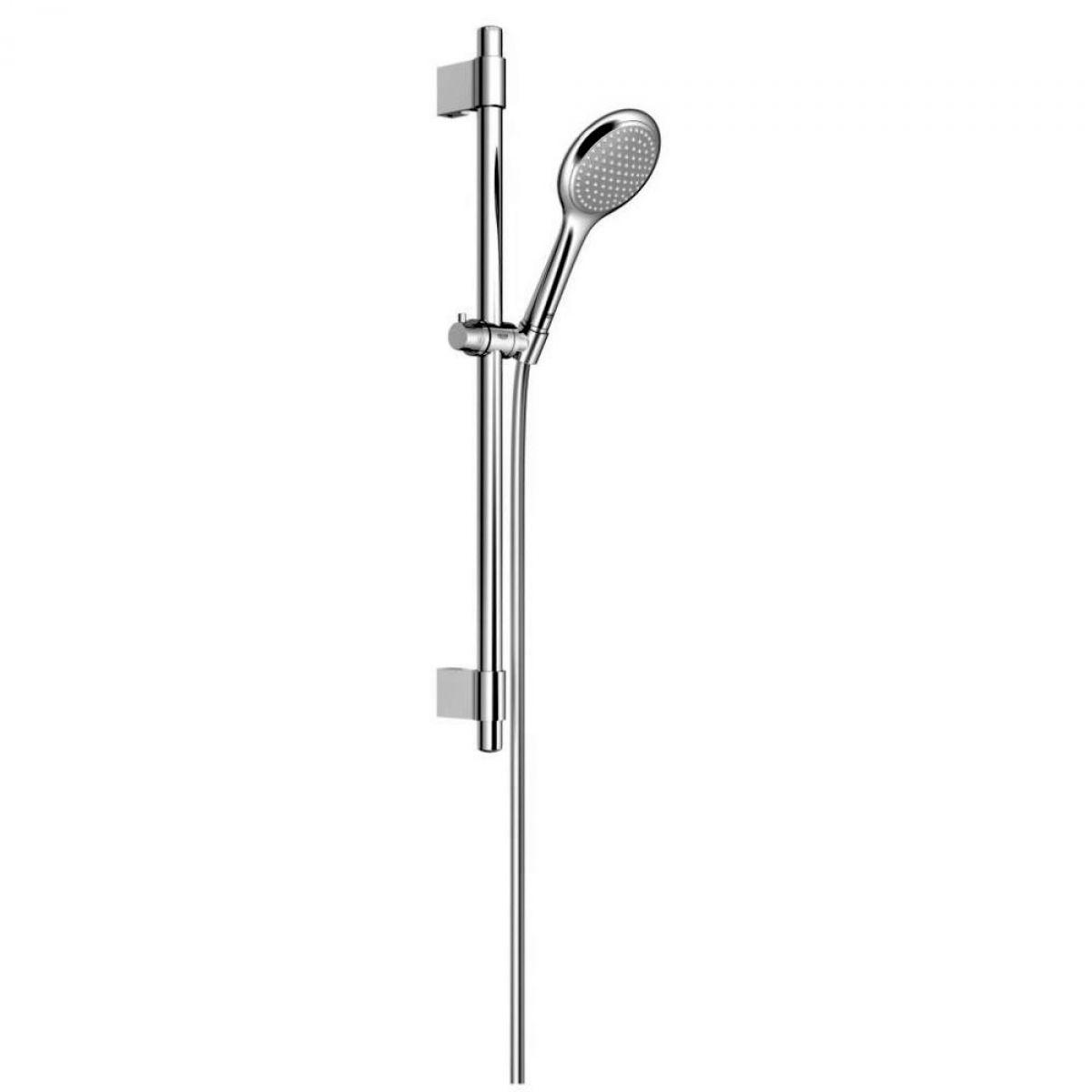 grohe rainshower solo 100 rail shower set uk bathrooms. Black Bedroom Furniture Sets. Home Design Ideas